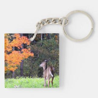 Deer in the Field Key Ring