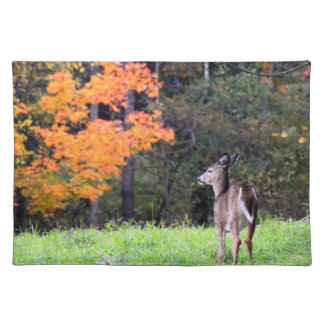 Deer In the Field on an Autumn Day Placemat