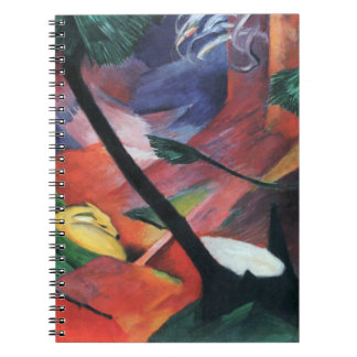 Deer in the Forest II by Franz Marc; Reh im Walde Notebooks