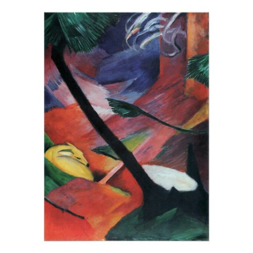 Deer in the Forest II by Franz Marc; Reh im Walde Print