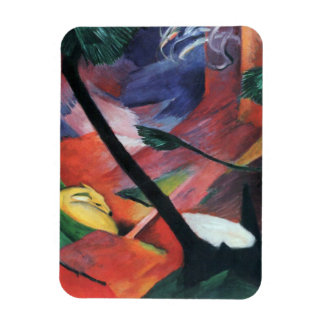 Deer in the Forest II by Franz Marc; Reh im Walde Rectangular Photo Magnet