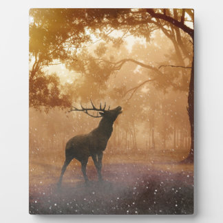 DEER IN THE FOREST PLAQUE