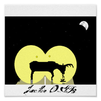 Deer in the Headlights Poster