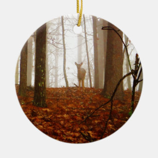 Deer in the Mist Christmas Ornament
