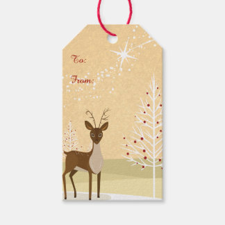 Deer in the Snow Gift Tags