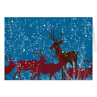 Deer in the Woods First Snow Card