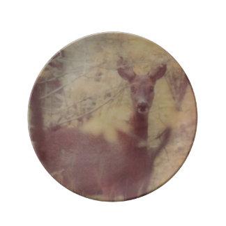 Deer in the woods plate