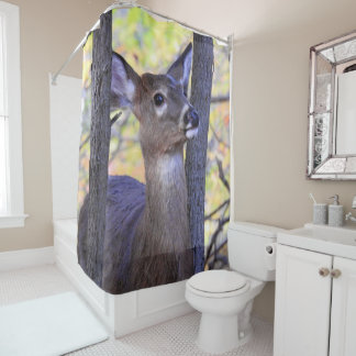 Deer in the Woods Shower Curtain