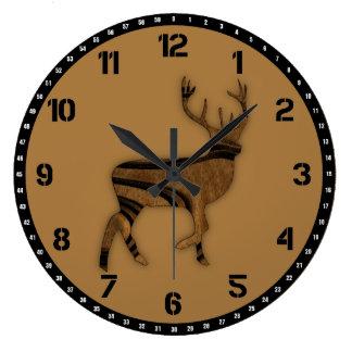 Deer Large Clock