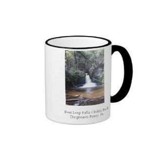 Deer Leap Falls, Childs Park, Pa, Deer Leap Fal... Ringer Mug