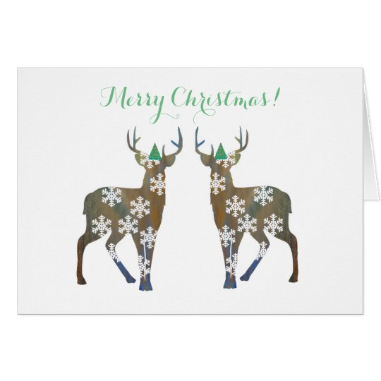 Deer Merry Christmas Postcard