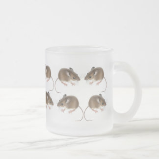 Deer Mice Frosted Glass Mug