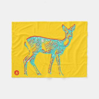 Deer Mind Fleece Blanket
