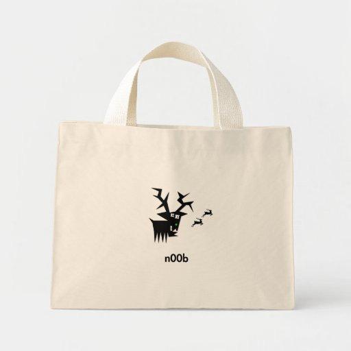Deer n00b tote bags