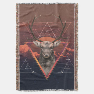 Deer Nature - Nature Deer Throw Blanket