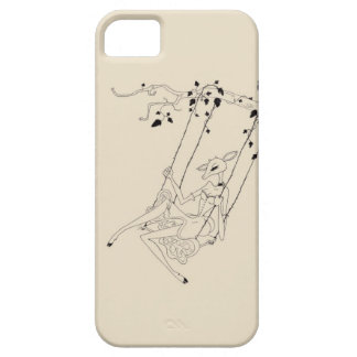 Deer on a swing - cream iPhone 5 cover
