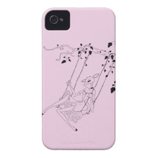 Deer on a swing - pink iPhone 4 Case-Mate case