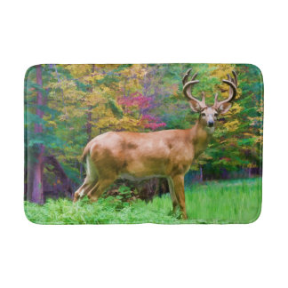 Deer on an Autumn Morning Bath Mat