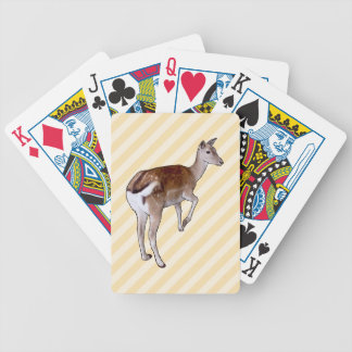 Deer, on Beige Stripes. Bicycle Playing Cards