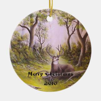 Deer on christmas ornament
