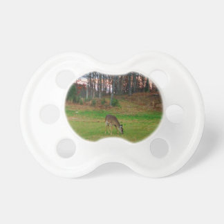 Deer on sunset golf course pacifiers