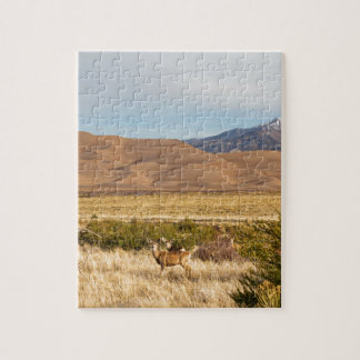 Deer on the Plains Great Colorado Sand Dunes Jigsaw Puzzle