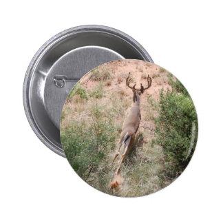 Deer on the Run 6 Cm Round Badge