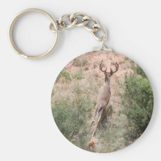 Deer on the Run Basic Round Button Key Ring