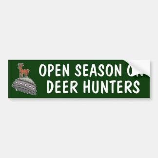Deer on UFO Bumper Sticker