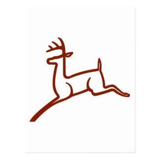 Deer Outline Postcard