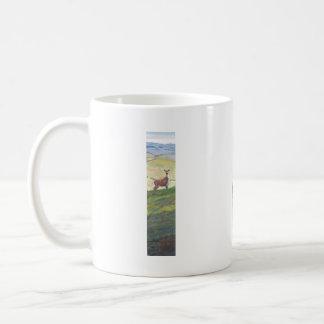 Deer painting basic white mug