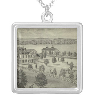 Deer Park Place Farm, Strong City, Kansas Silver Plated Necklace