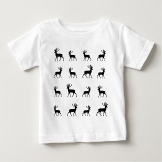 Deer pattern in Black and White Baby T-Shirt