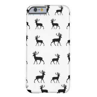 Deer pattern in Black and White Barely There iPhone 6 Case