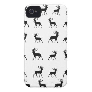 Deer pattern in Black and White Case-Mate iPhone 4 Case