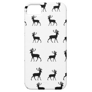 Deer pattern in Black and White iPhone 5 Cover