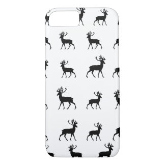 Deer pattern in Black and White iPhone 8/7 Case