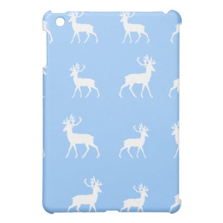 Deer pattern in Blue and White Case For The iPad Mini