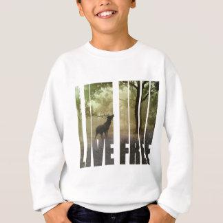 Deer Photo Print Sweatshirt