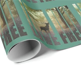 Deer Photo Print Wrapping Paper