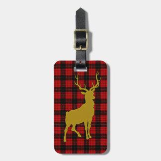 Deer Plaid Luggage Tag