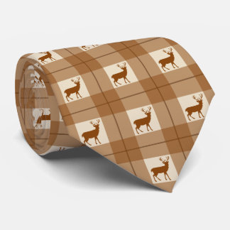 Deer plaid tie