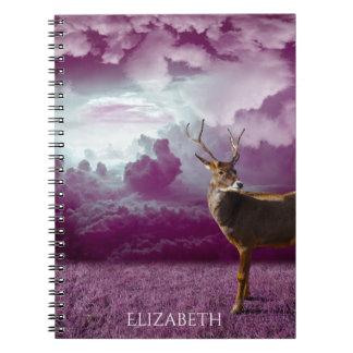 Deer Purple Fantasy Notebook