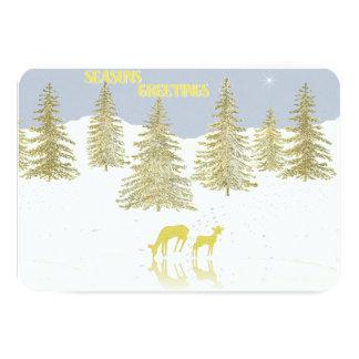 Deer Reflection 9 Cm X 13 Cm Invitation Card