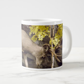Deer rubbing antlers cup jumbo mug