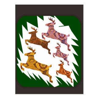deer run race postcard