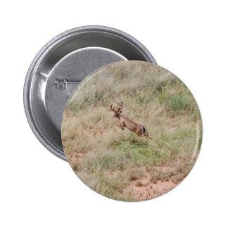 Deer Running 6 Cm Round Badge