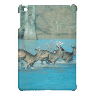 Deer running in water iPad mini cases