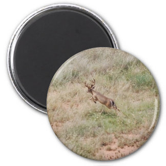 Deer Running 6 Cm Round Magnet