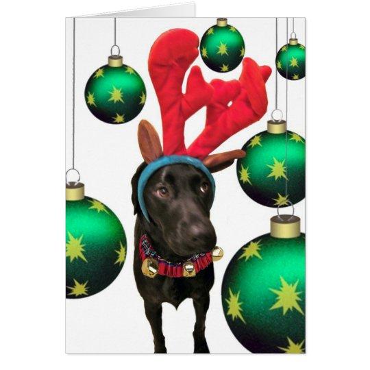 Deer Santa Card